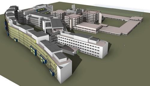 Opzetten 3D model Martini Ziekenhuis