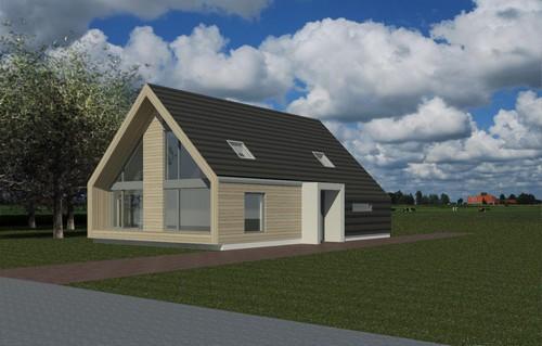 Nieuwbouw woonhuis Kanaalweg te Overschild